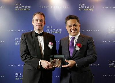 Penta Security CEO, Seokwoo Lee, with Frost & Sullivan Senior Vice President, Andrew Milroy