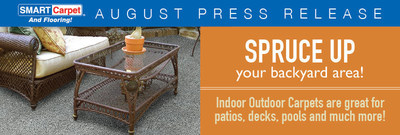 Spruce up your backyard with indoor outdoor carpet from SMART Carpet and Flooring.