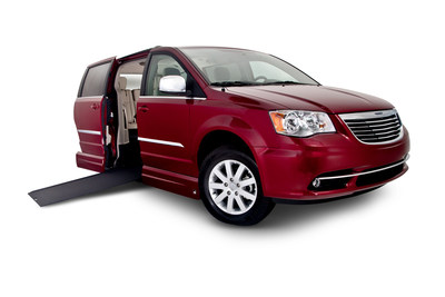 National Mobility Equipment Dealers Association,(NMEDA), partners with HopeHELPLive,a nonprofit organization that provides individuals, families and community volunteers with tools to raise funds to cover the costs of modified vehicles and adaptive equipment such as this Chrysler Town & Country with a Vantage Mobility International (VMI) conversion.