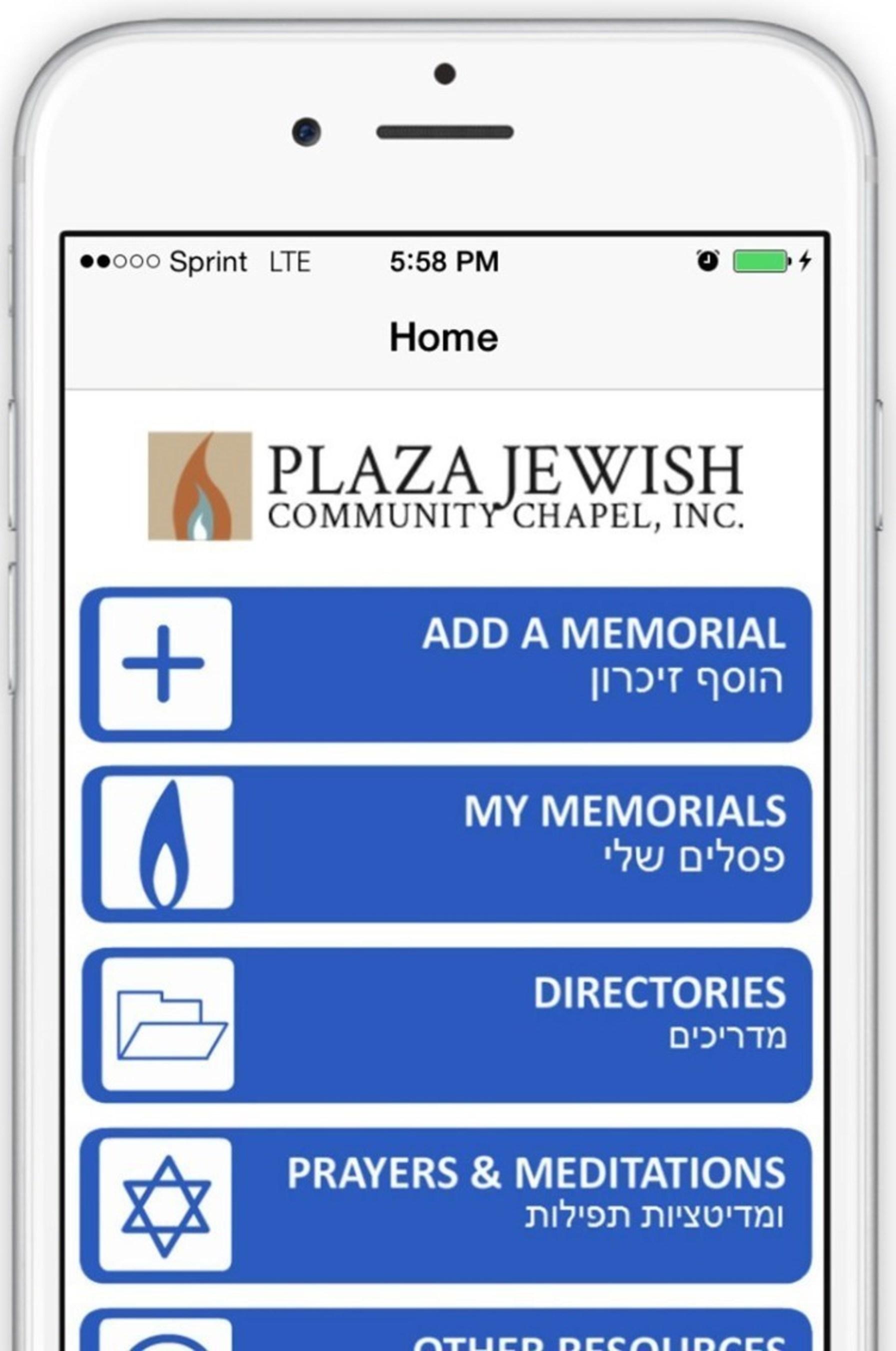 Plaza Jewish Community Chapel Launches Free 'Jewish Funeral and Yahrzeit Memorial App'