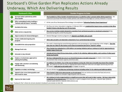 Starboard's Olive Garden Plan Replicates Actions Already Underway, Which are Delivering Results (PRNewsFoto/Darden Restaurants, Inc.)