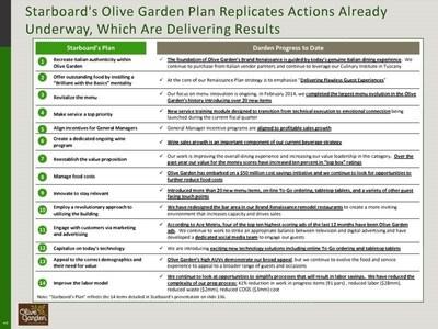 Starboard's Olive Garden Plan Replicates Actions Already Underway, Which are Delivering Results (PRNewsFoto/Darden Restaurants, Inc.)