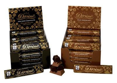 Variety of Divine Chocolate. (Credit: SERRV).  (PRNewsFoto/Catholic Relief Services)