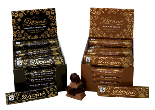 Variety of Divine Chocolate. (Credit: SERRV).  (PRNewsFoto/Catholic Relief Services)