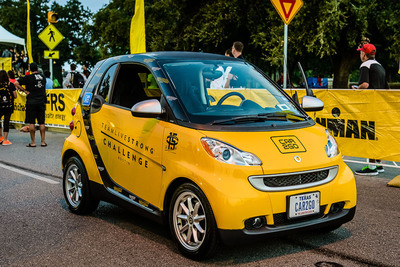 car2go celebrates nationwide partnership with the LIVESTRONG Foundation to focus on cancer prevention while encouraging habits to safeguard against melanoma.  (PRNewsFoto/car2go)