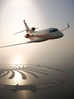 The Falcon 7X is the company's best seller in the Middle East.
