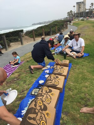 Recently, Wounded Warrior Project hosted a beach cleanup in San Diego, California. The warriors enjoyed lunch afterward.