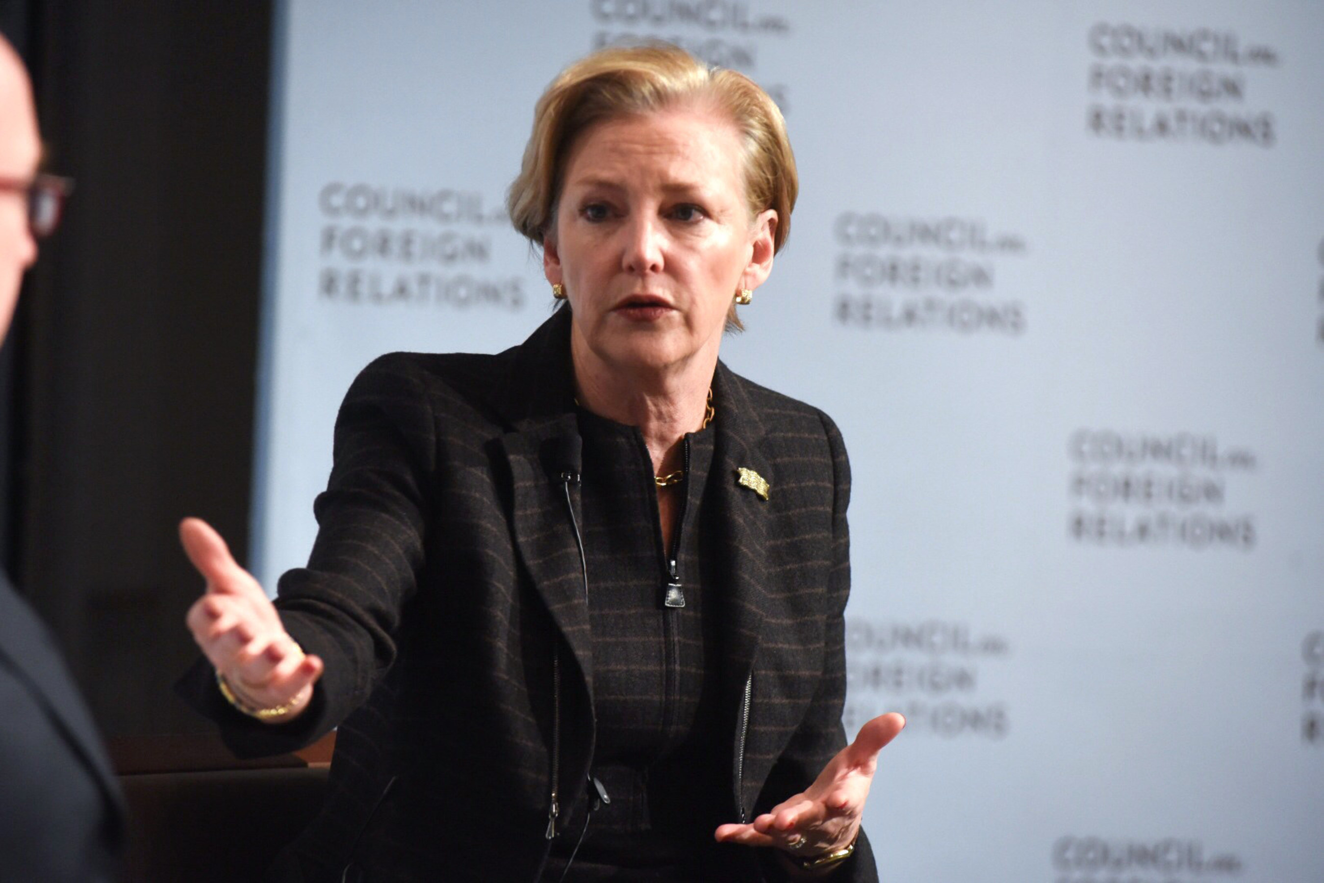 Ellen Kullman at the Council on Foreign Relations' CEO Speaker Series. Photo courtesy of Don ...