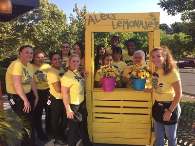 Applebee's Neighborhood Grill & Bar restaurants raised a record of more than $1.2 million for Alex's Lemonade Stand Foundation, an organization that funds childhood cancer research.