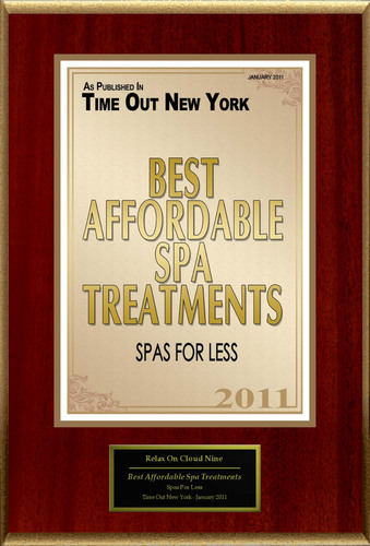 Relax On Cloud Nine, Inc. Selected For 'Best Affordable Spa Treatments'