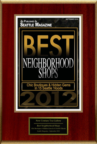 "New Century Tea Gallery Selected For ""Best Neighborhood Shops"".  (PRNewsFoto/New Century Tea Gallery)"