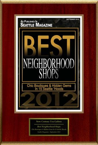 New Century Tea Gallery Selected For 'Best Neighborhood Shops'