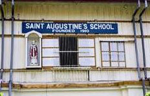 ICM Sister's convent famous facade with the name of the school and the year it was founded. SAS students assemble in front of the flagpole that's in front of the convent every morning during flag raising ceremonies. This picture is well known to  ...