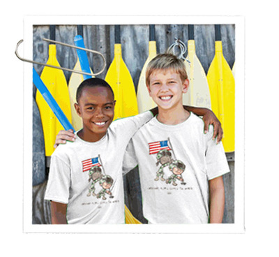 The full $10 cost of the shirt will go towards our goal of sending 100 military kids to camp.