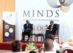 President Paul Kagame (L) speaking at the event moderated by Dr Nkosana Moyo, the Founder and Executive Chairman of the Mandela Institute for Development Studies (MINDS) (PRNewsFoto/KT Press)
