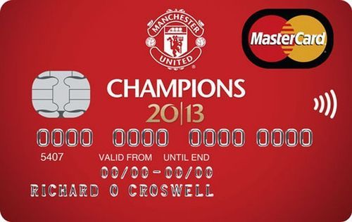 The new 'Champions Credit Card' launched to celebrate Manchester United's 20th title win (PRNewsFoto/MBNA Limited)