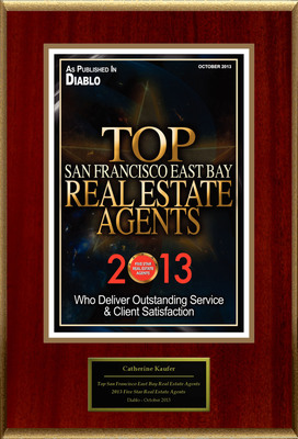 "Catherine Kaufer Selected For ""Top San Francisco East Bay Real Estate Agents."" (PRNewsFoto/American Registry)"