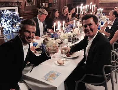 David Beckham and Simon Fuller toast to the global launch of HAIG CLUB(TM)