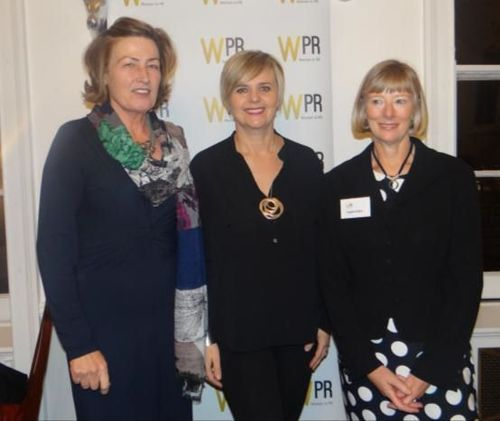 Michelle Feeney centre with joint WPR presidents Susan Hardwick (left) and Angela Oakes (right) (PRNewsFoto/WPR)