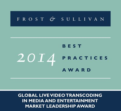 Frost & Sullivan recognizes Envivio with the 2014 Global Live Video Transcoding in Media and Entertainment Market Leadership Award