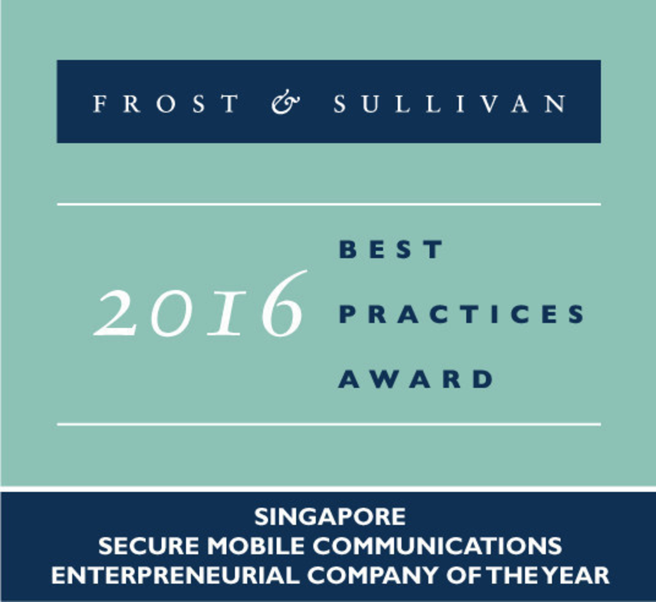 TreeBox Solutions named 2016 Frost & Sullivan Singapore Secure Mobile Communications Entrepreneurial Company of the Year