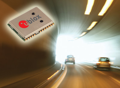 u-blox' NEO-M8L module with 3D Automotive Dead Reckoning technology and integrated sensors help ensure vehicle position is always accurate regardless of satellite visibility.