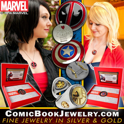 What's Your Passion Jewelry releases officially licensed Marvel collectible fine jewelry in sterling silver & gold.