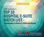 Hospital leaders demand that new technologies and care processes bring higher value, better outcomes, and lower costs to their organizations. To help them sift through the latest healthcare innovations that are molding the landscape of healthcare in 2016 and beyond, ECRI Institute announces the release of its annual Top 10 Hospital C-suite Watch List. Available as a free public service, the report highlights important new and emerging drugs, devices, procedures, and care processes intended to provide new ways to deliver safe and cost-effective patient care. Download now for free at www.ecri.org/2016watchlist.