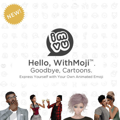 Hello, WithMoji(TM). Goodbye, Cartoons. Express Yourself with Your Own Animated Emoji