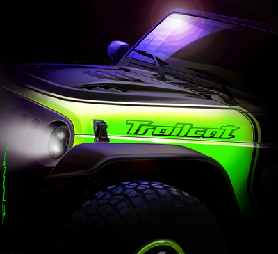 "The Jeep Wrangler ""Trailcat"" is one of seven new concepts Jeep has created for the 50th Easter Jeep Safari in Moab, Utah later this month."