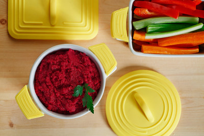 Snack healthy on Beet Hummus made with canola oil. More at CanolaInfo.org.
