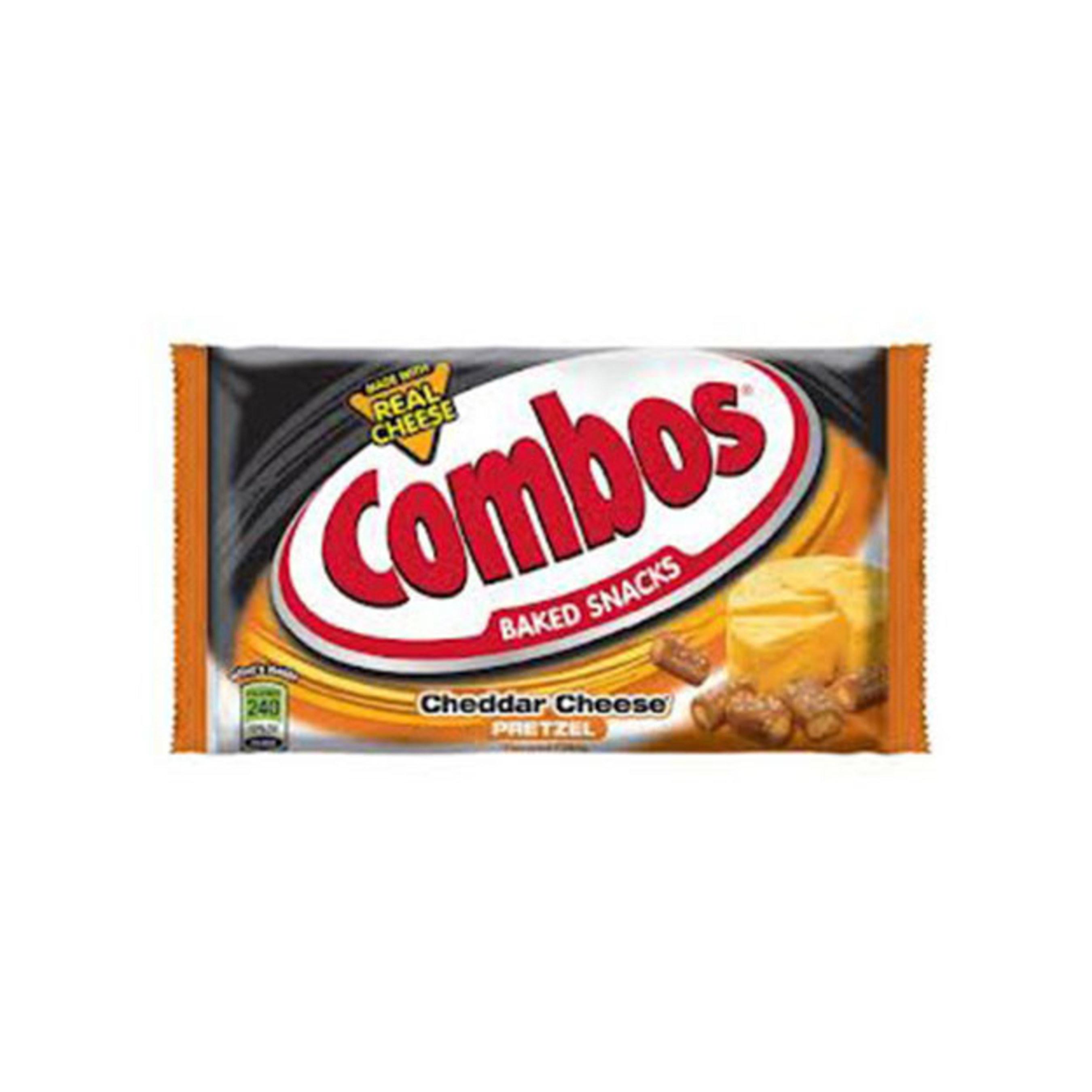 COMBOS SNACKS CHEDDAR CHEESE PRETZEL - SINGLES - 1.80 OZ - 18 CT - 12/CA