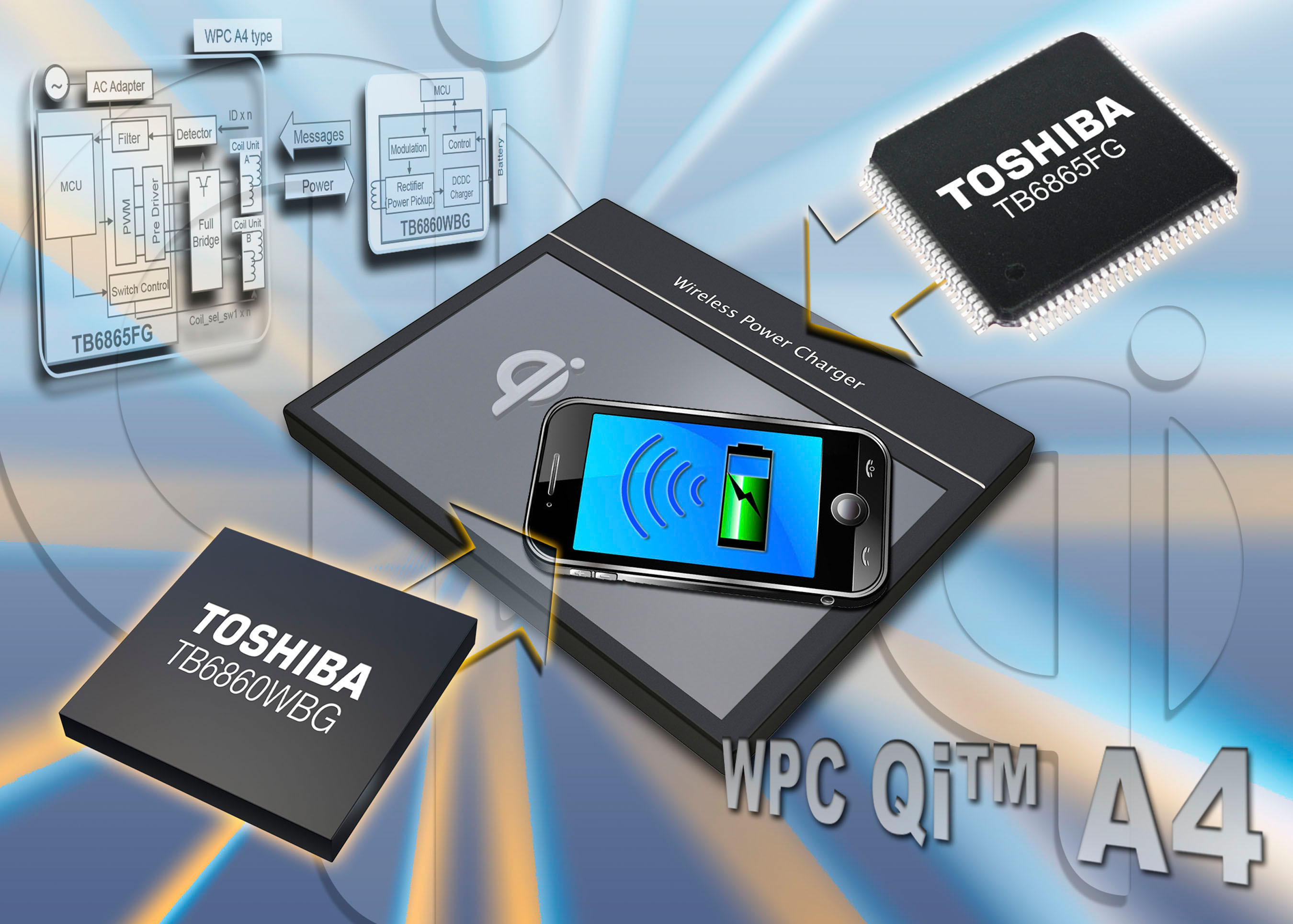 Toshiba Launches High-Current Output Chipset for Free Positioning Wireless Charging