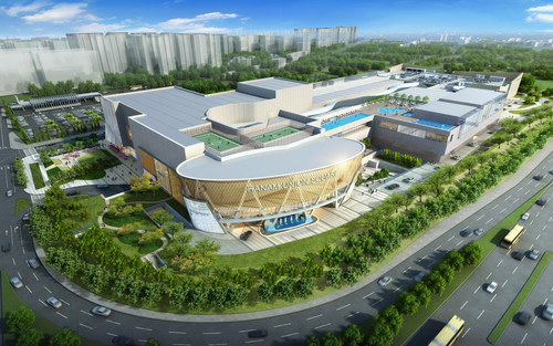 Aerial rendering of Hanam Union Square (PRNewsFoto/Taubman Centers, Inc.)