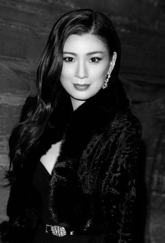 Rebecca Wang attends Chanel's Metiers d'Art fashion show at Linlithgow Palace.