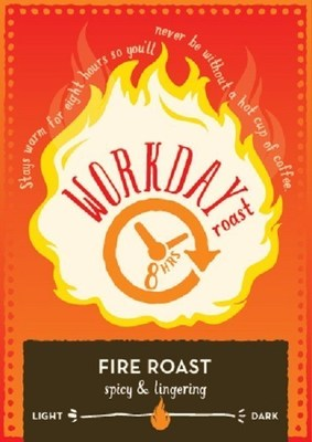 Caribou Coffee Workday Roast Label