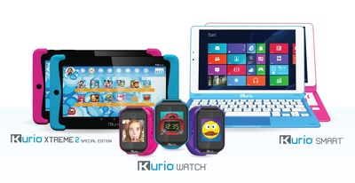 Kurio offers a range of innovative, fun and safe tech products for every gadget-obsessed kid this holiday season. (L to R) Kurio Xtreme 2 Special Edition Tablet, Kurio Watch and Kurio Smart(TM) Windows Laptop Tablet.