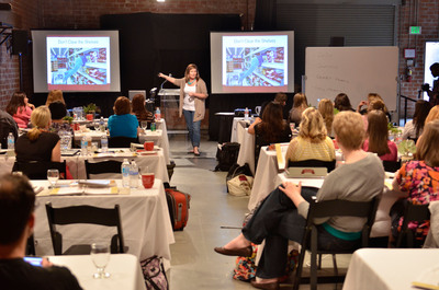 Andrea Deckard, founder of SavingsLifestyle.com, hosts Meal Planning Simplified classes by Savings.com. The classes teach an understanding of how planning in advance will help ensure families are eating nutritious, low cost meals.  (PRNewsFoto/Savings.com)