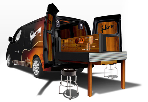 Nissan And Gibson Combine Forces With NV200 Mobile Guitar Workshop.  (PRNewsFoto/Nissan North America, Inc.)