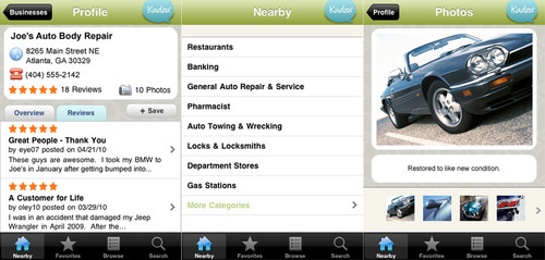 Kudzu iPhone(TM) Application Brings a New Level of Convenience to Finding the Best Service Provider