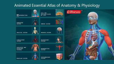 Animated Essential Atlas of Anatomoy and Physiology.  (PRNewsFoto/Focus Medica India Pvt. Ltd)