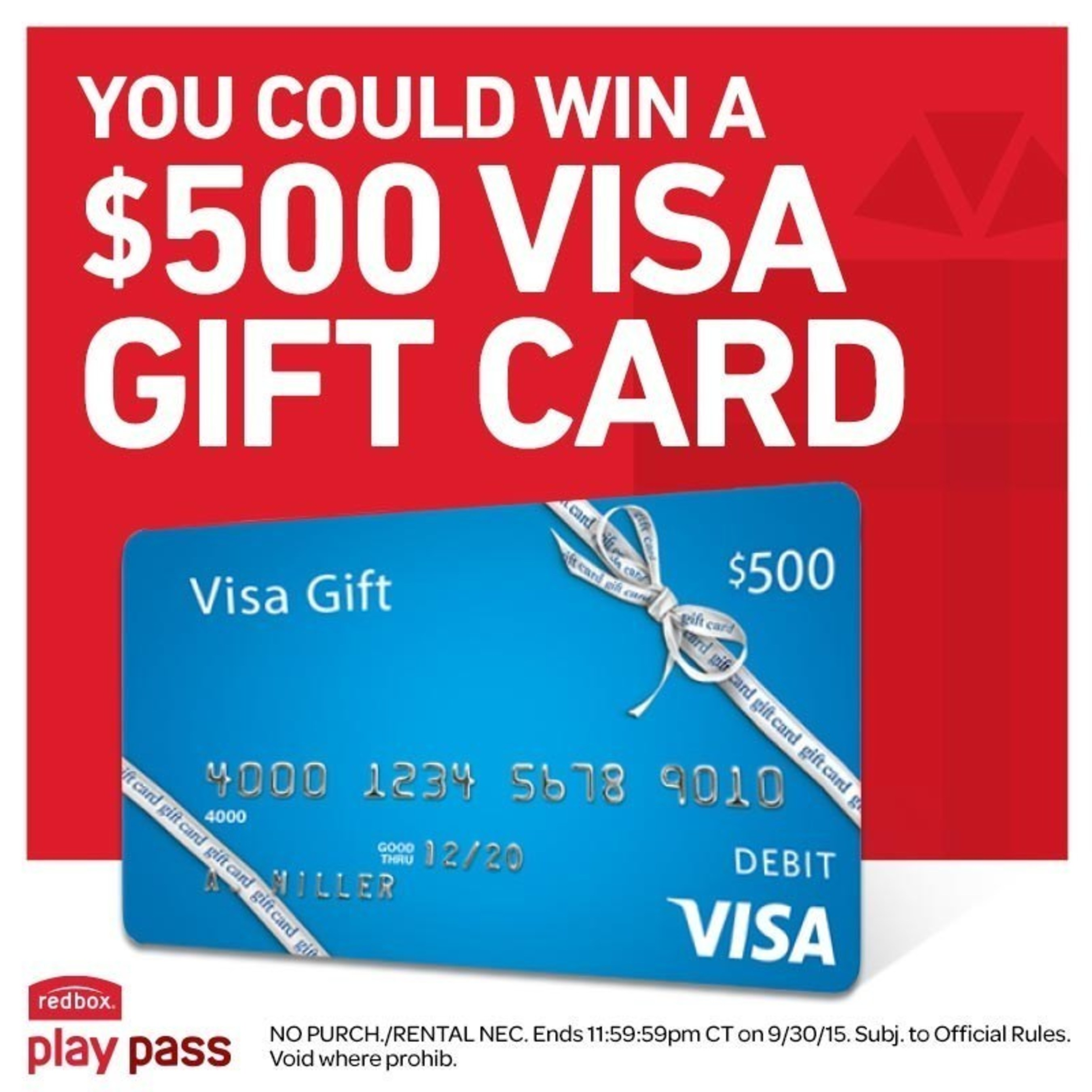 Redbox And Visa Team Up To Offer Consumers A Chance To Win 500
