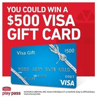 Redbox and Visa Play Pass Sweepstakes 2015