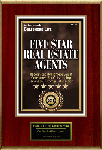 "Witold Vito Kostrzewski Selected For ""Five Star Real Estate Agents"". (PRNewsFoto/American Registry) (PRNewsFoto/AMERICAN REGISTRY)"