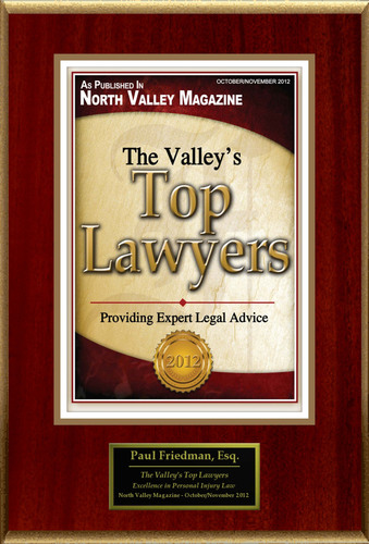 Paul D. Friedman Selected For 'The Valley's Top Lawyers'