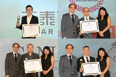 (From top left, clockwise) Chau Tsankwan of Shenzhen Batar Investment Holding Group Co Ltd; Ye Xiangzhou of Shenzhen Foreway Jewellery Group Co Ltd; Lin Changwei of Shenzhen Xingguangda Jewelry Industrial Co Ltd and Zheng Huanjian of Shenzhen Ganlu Jewelry Co Ltd