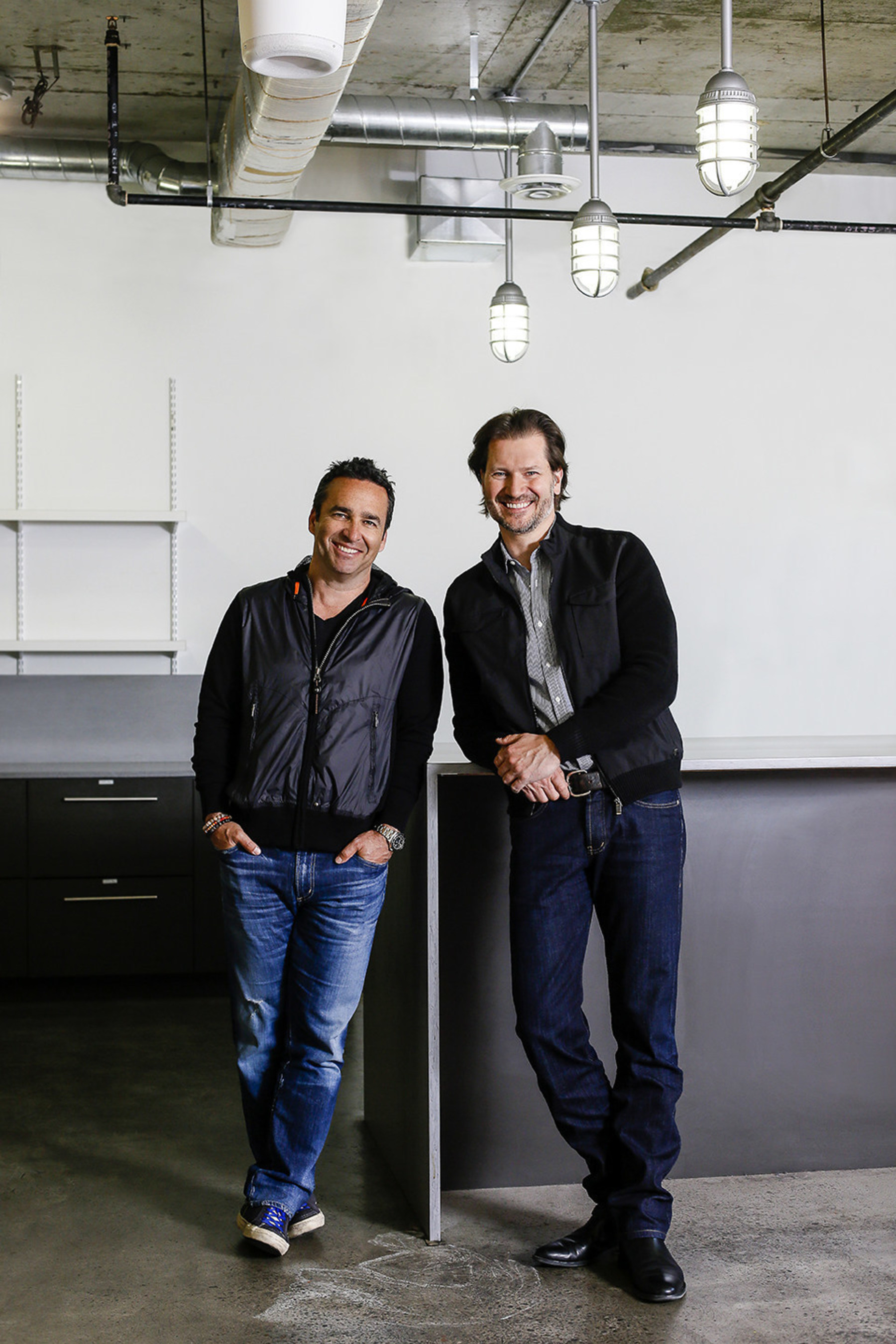 Newly appointed Avid Life Media CEO Rob Segal (left) and newly appointed President James Millership (right) are charting a new course for Avid Life Media and its flagship brand, Ashley Madison. Segal and Millership are pictured in the company's future head office, which is currently under construction in Toronto.