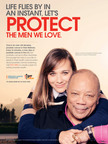 Quincy and Rashida Jones in the new PSA with The Prostate Cancer Foundation (PCF) and Stand Up To Cancer (SU2C).  (PRNewsFoto/The Prostate Cancer Foundation and Stand Up To Cancer)