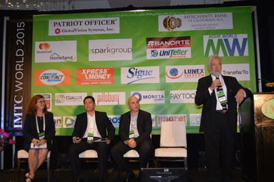 Money Transfer Expert Hugo Cuevas-Mohr moderates a panel of industry delegates at IMTC WORLD 2015 in Miami. More than 450 people converged in Miami in November at the Eden Roc for this unique event.