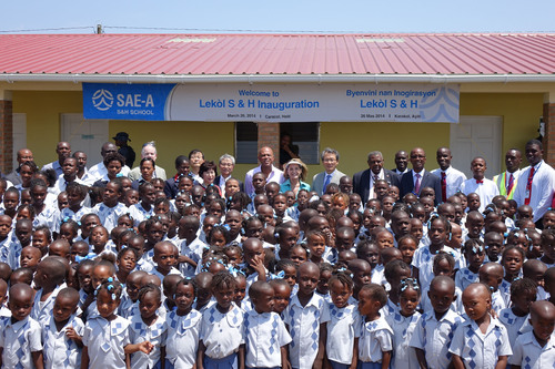 Sae-A Foundation Inaugurates New School in Northern Haiti. (PRNewsFoto/Sae-A Trading Co., Ltd) ...